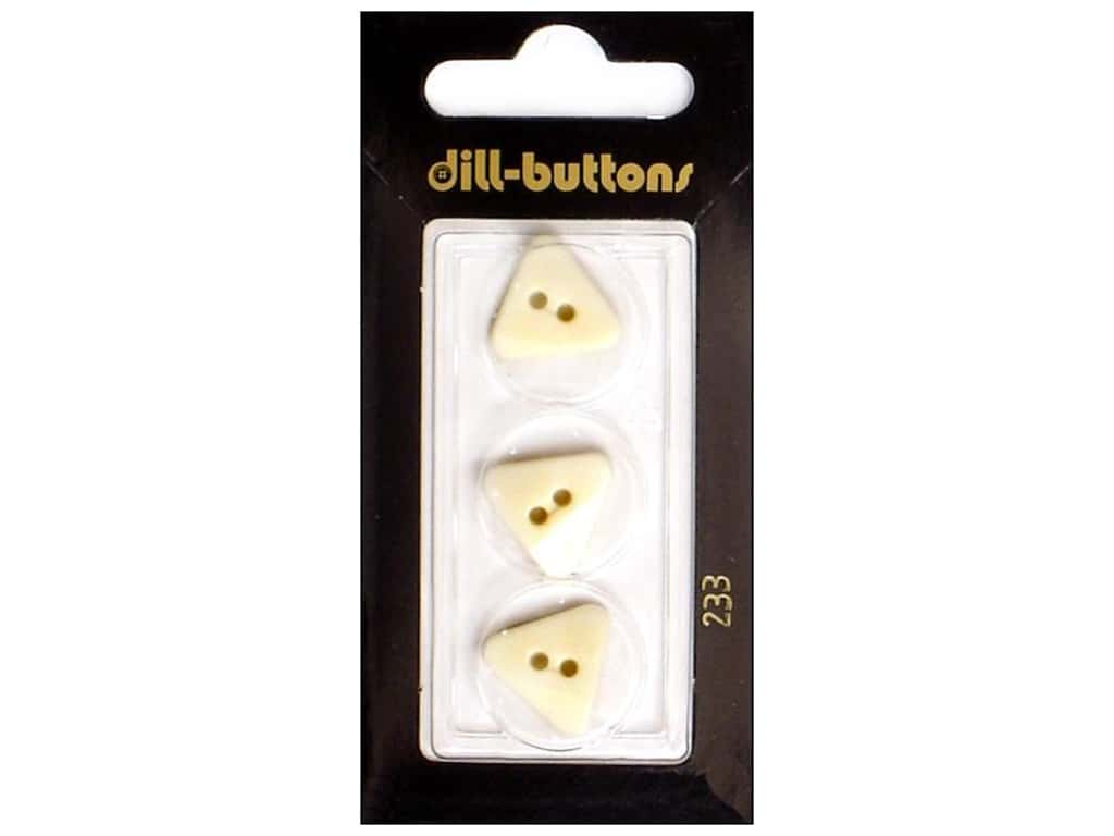 Dill 2 Hole Buttons 5/8 in. White #233 2 pc.