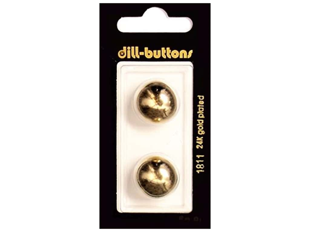 Dill Shank Buttons 11/16 in. Gold #1811 2 pc.