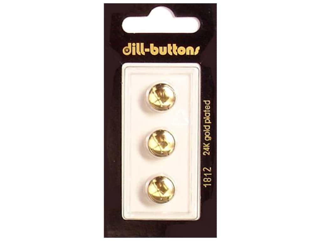 Dill Shank Buttons 7/16 in. Gold #1812 3 pc.