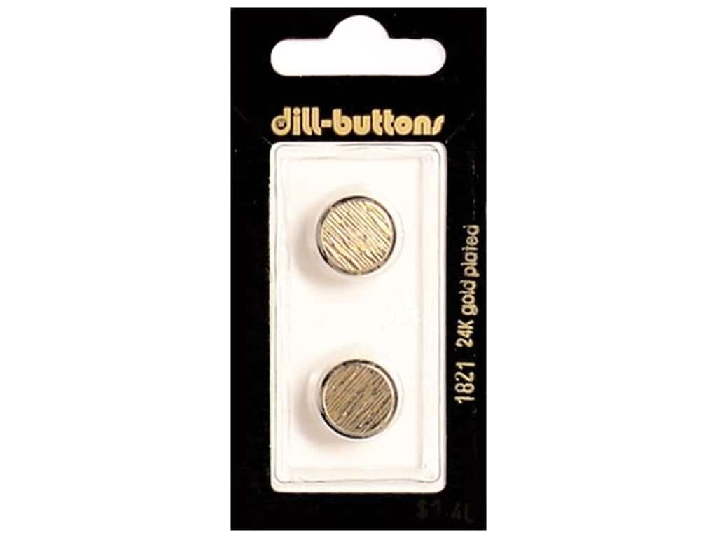 Dill Shank Buttons 9/16 in. Gold Metal #1821 2 pc.