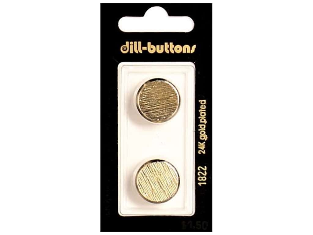 Dill Shank Buttons 11/16 in. Gold Metal #1822 2 pc.
