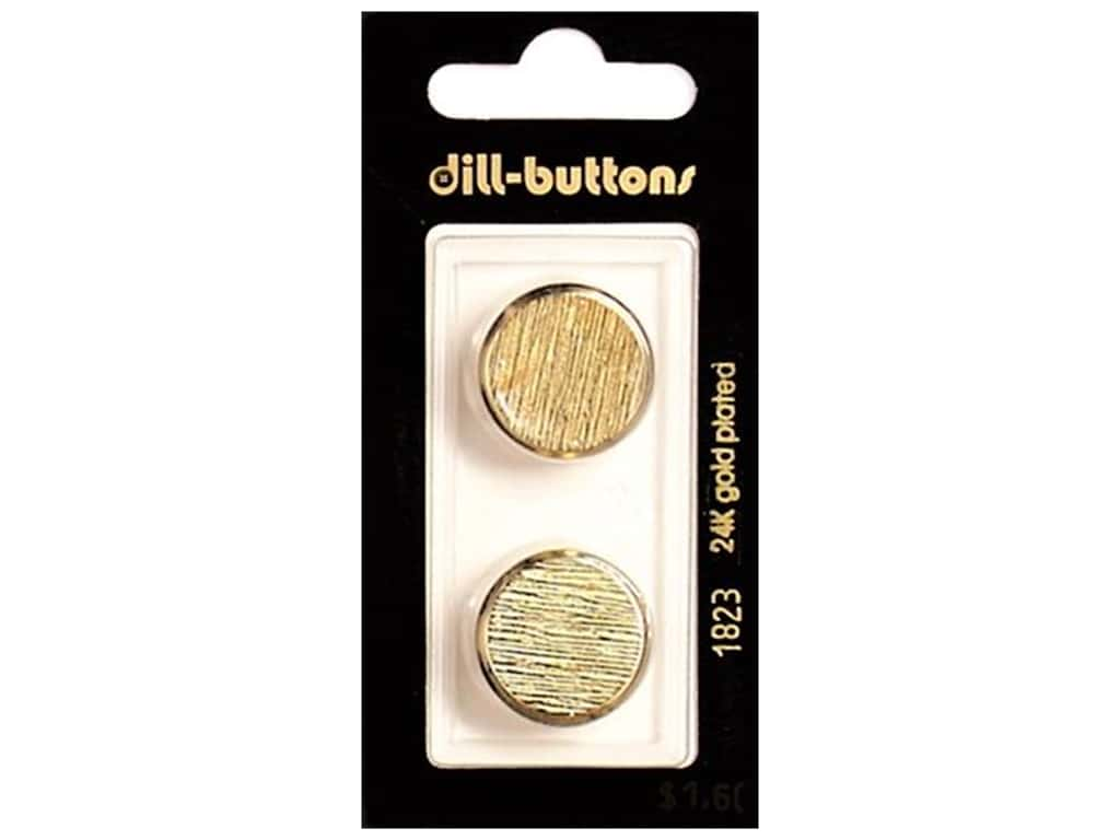 Dill Shank Buttons 13/16 in. Gold Metal #1823 2 pc.