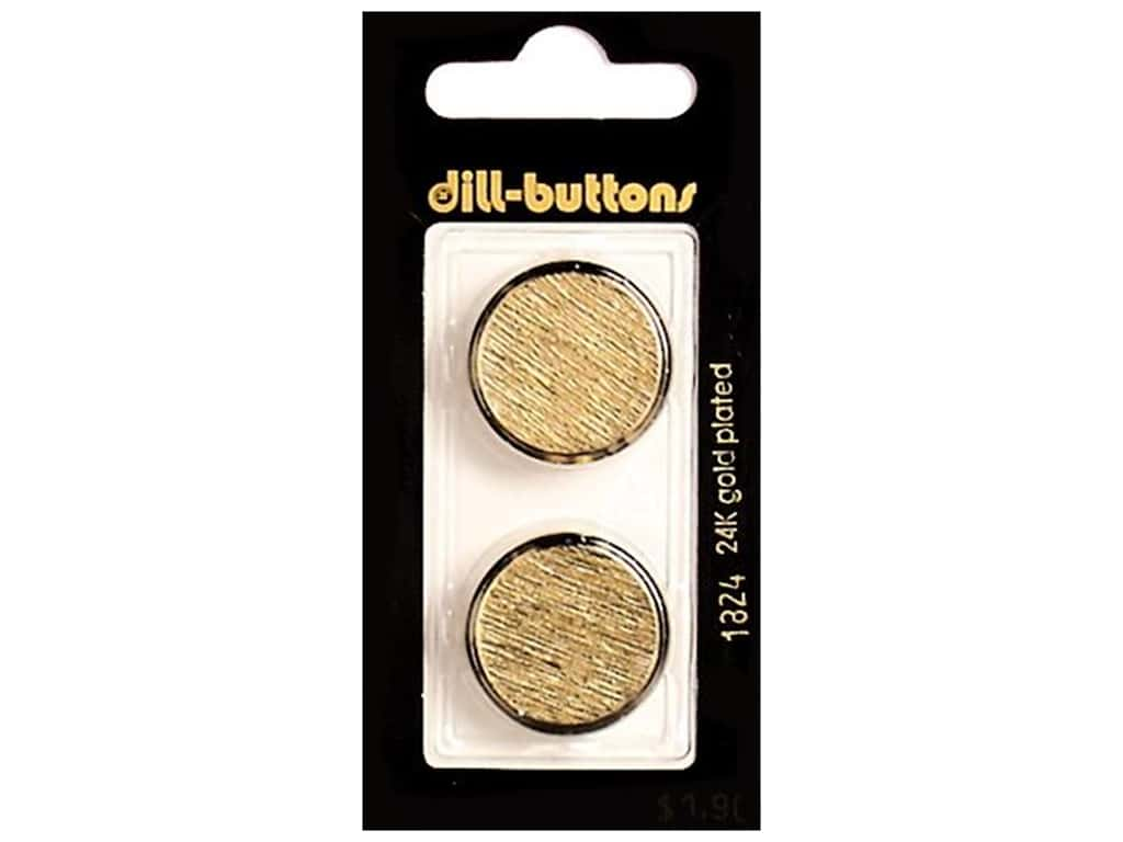 Dill Shank Buttons 7/8 in. Gold Metal #1824 2 pc.