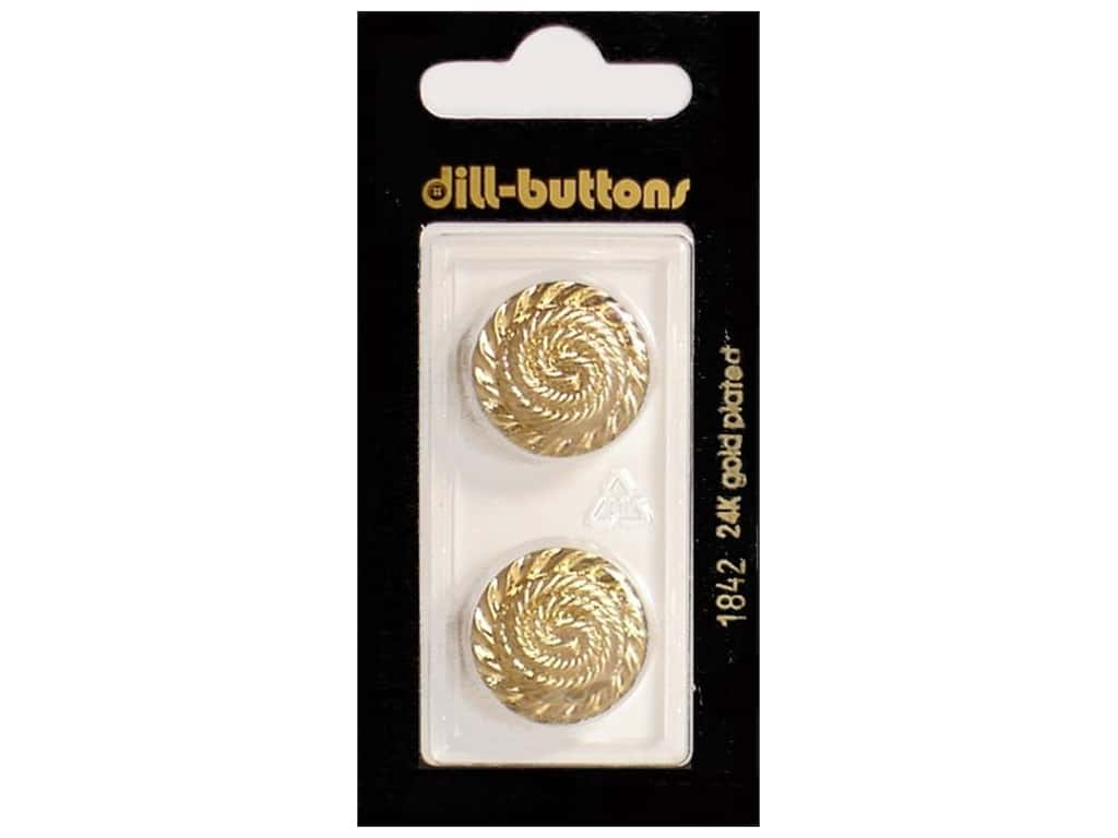 Dill Shank Buttons 13/16 in. Gold #1842 2 pc.