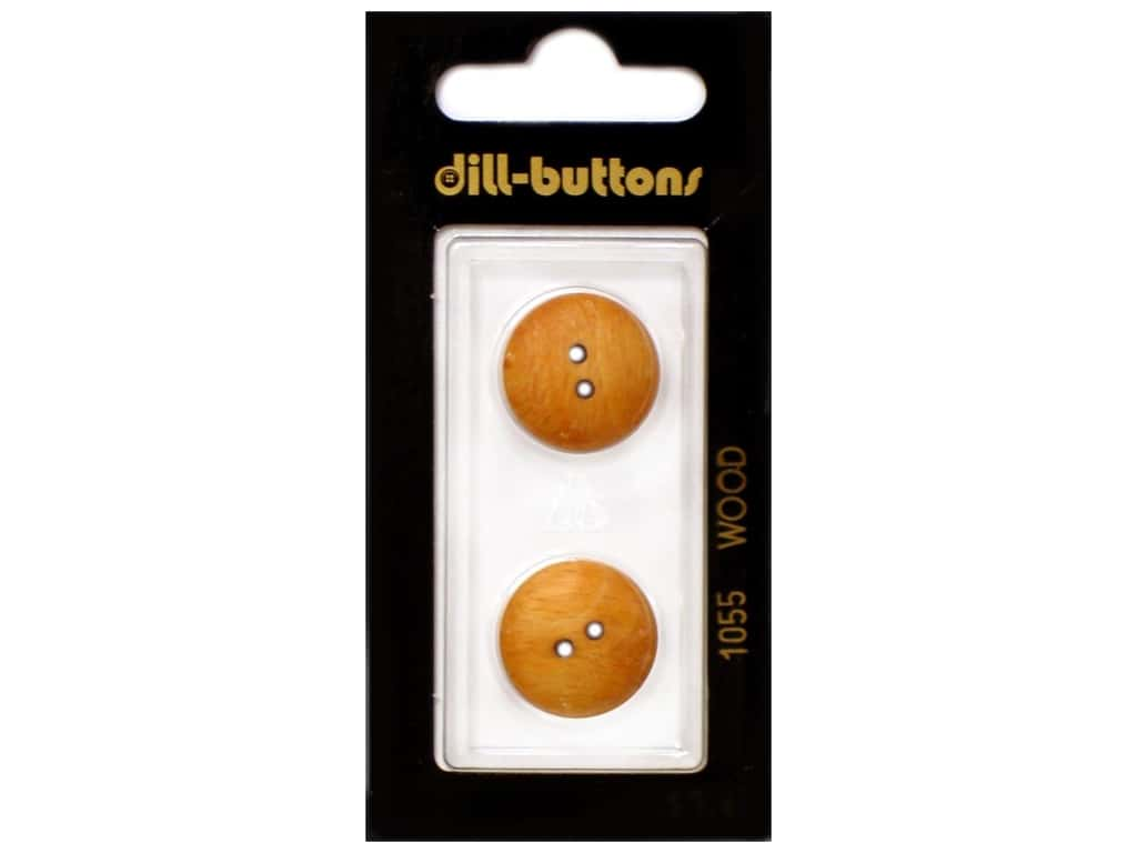 Dill 2 Hole Buttons 11/16 in. Wood Brown #1055 2 pc.