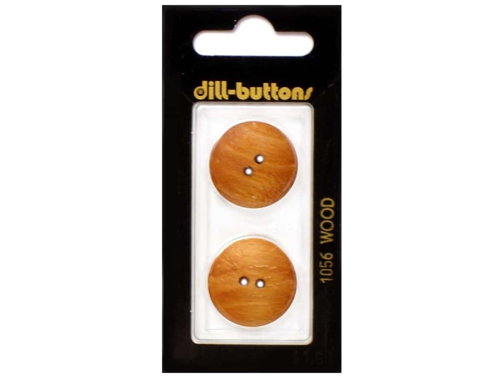 Dill 2 Hole Buttons 7/8 in. Wood Brown #1056 2 pc.