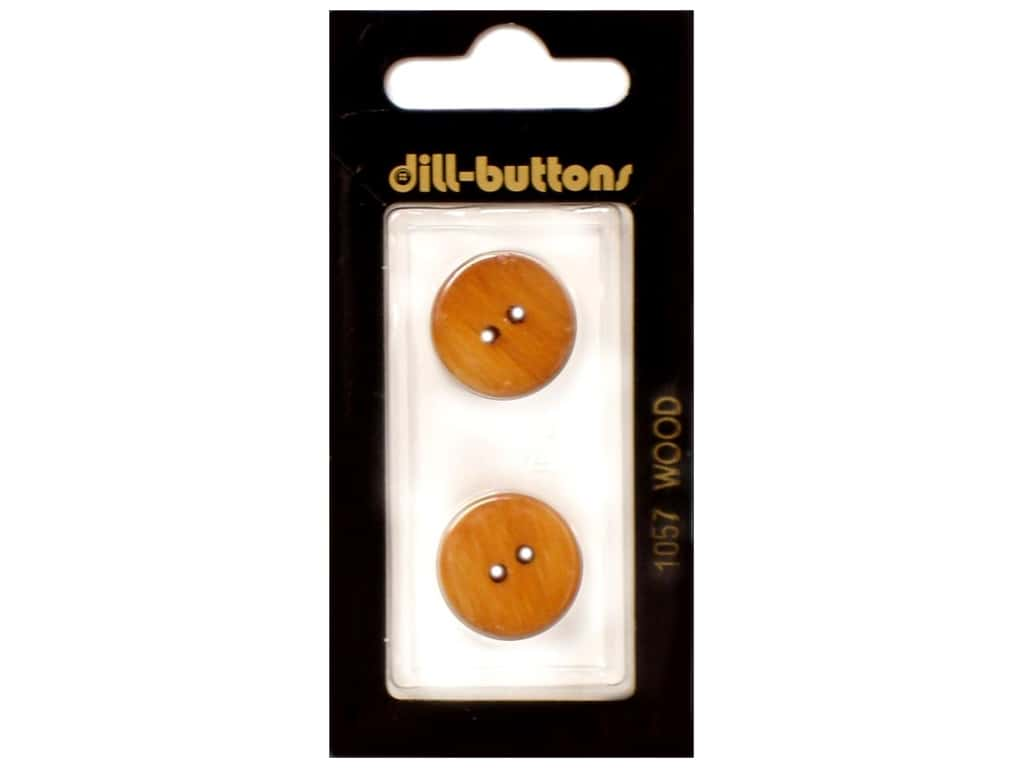 Dill 2 Hole Buttons 11/16 in. Wood Brown #1057 2 pc.