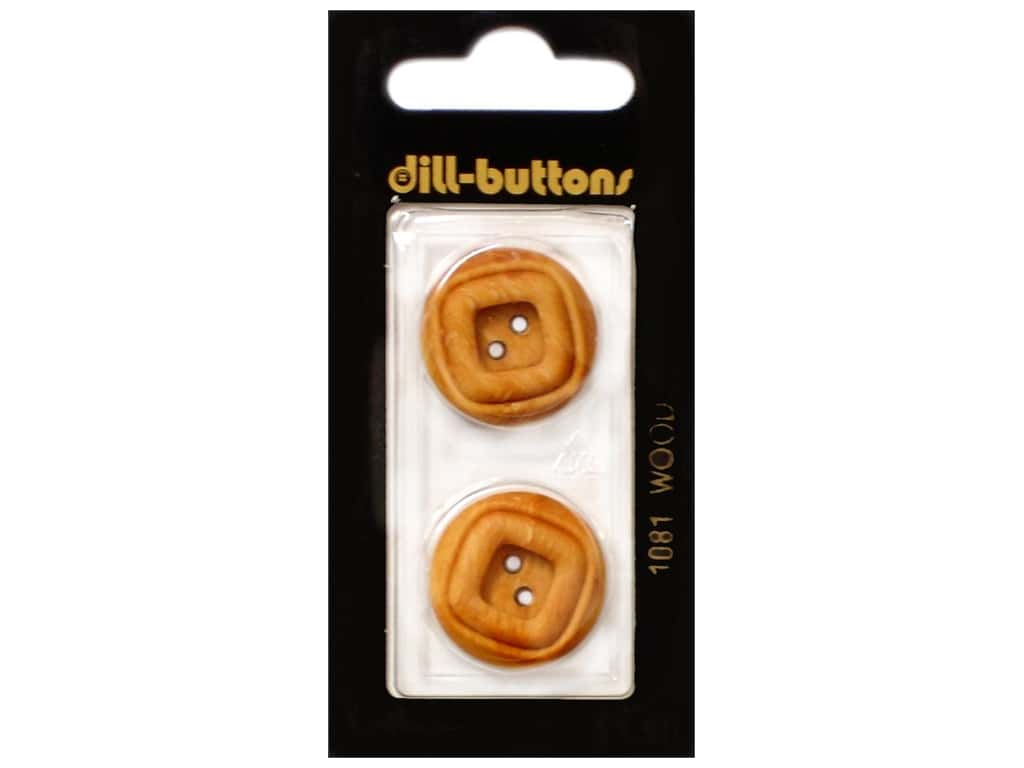 Dill 2 Hole Buttons 7/8 in. Wood Brown #1081 2 pc.