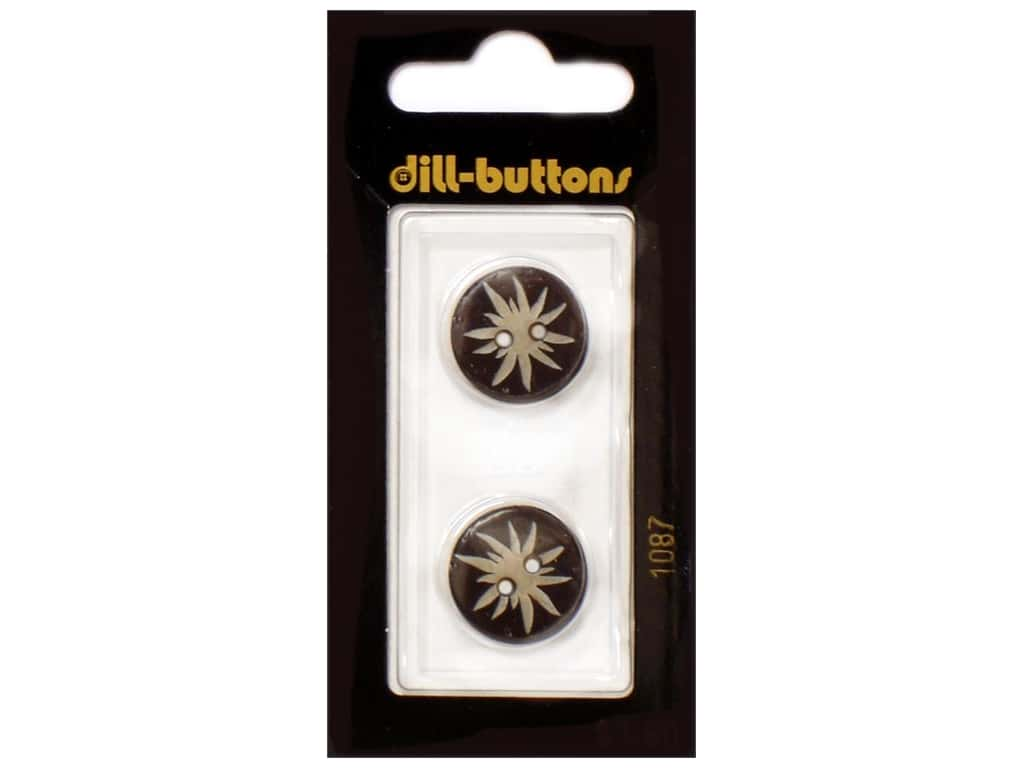 Dill 2 Hole Buttons 11/16 in. Brown #1087 2 pc.