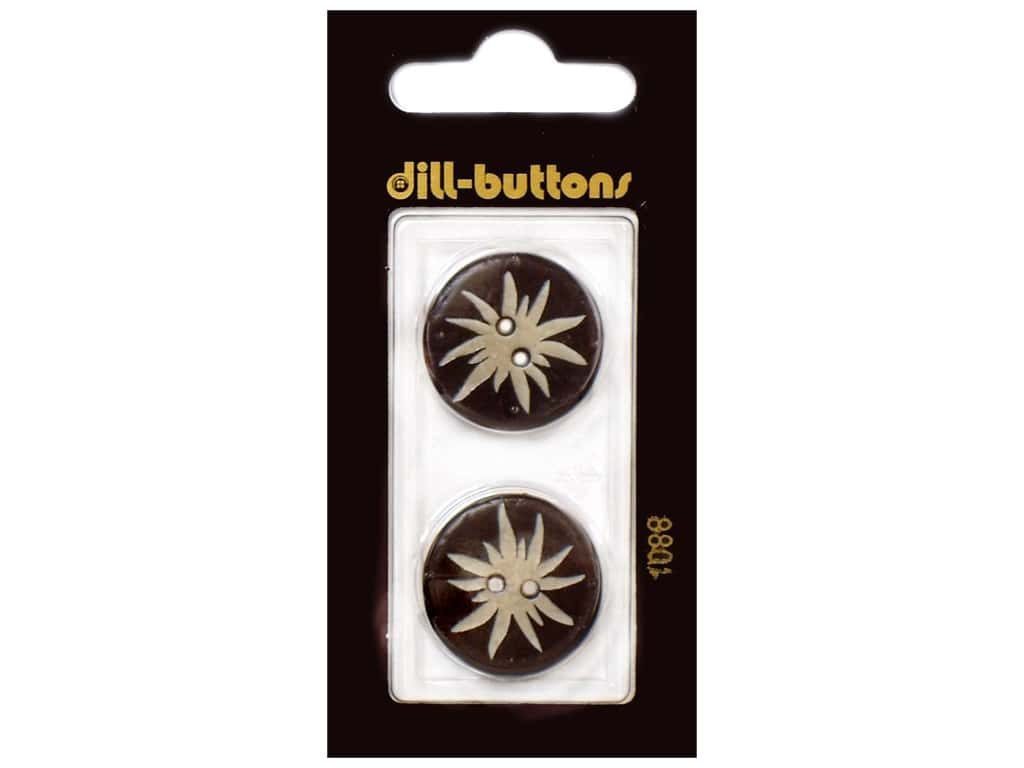 Dill 2 Hole Buttons 7/8 in. Brown #1088 2 pc.