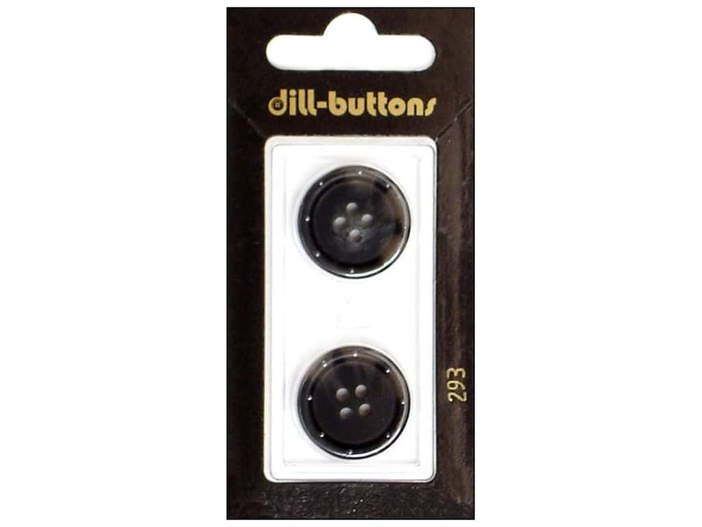 Dill 4 Hole Buttons 13/16 in. Grey #293 2 pc.