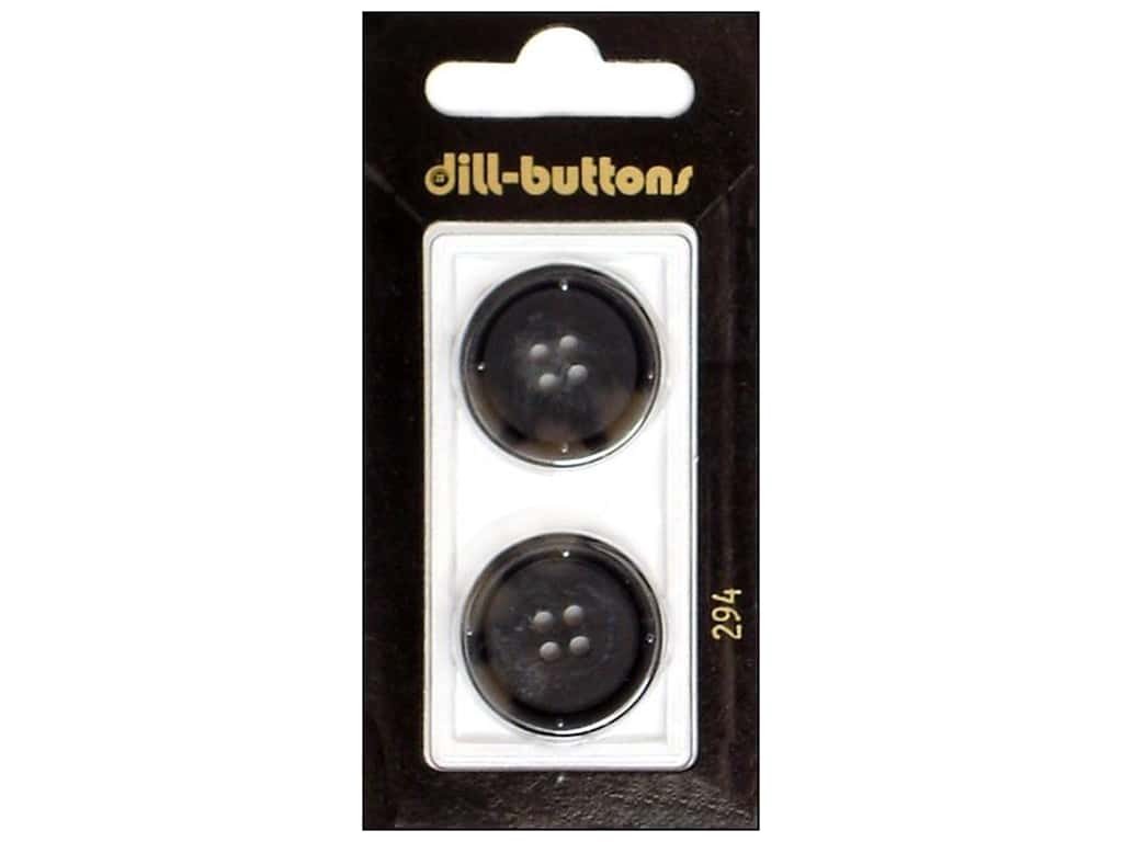 Dill 4 Hole Buttons 7/8 in. Grey #294 2 pc.