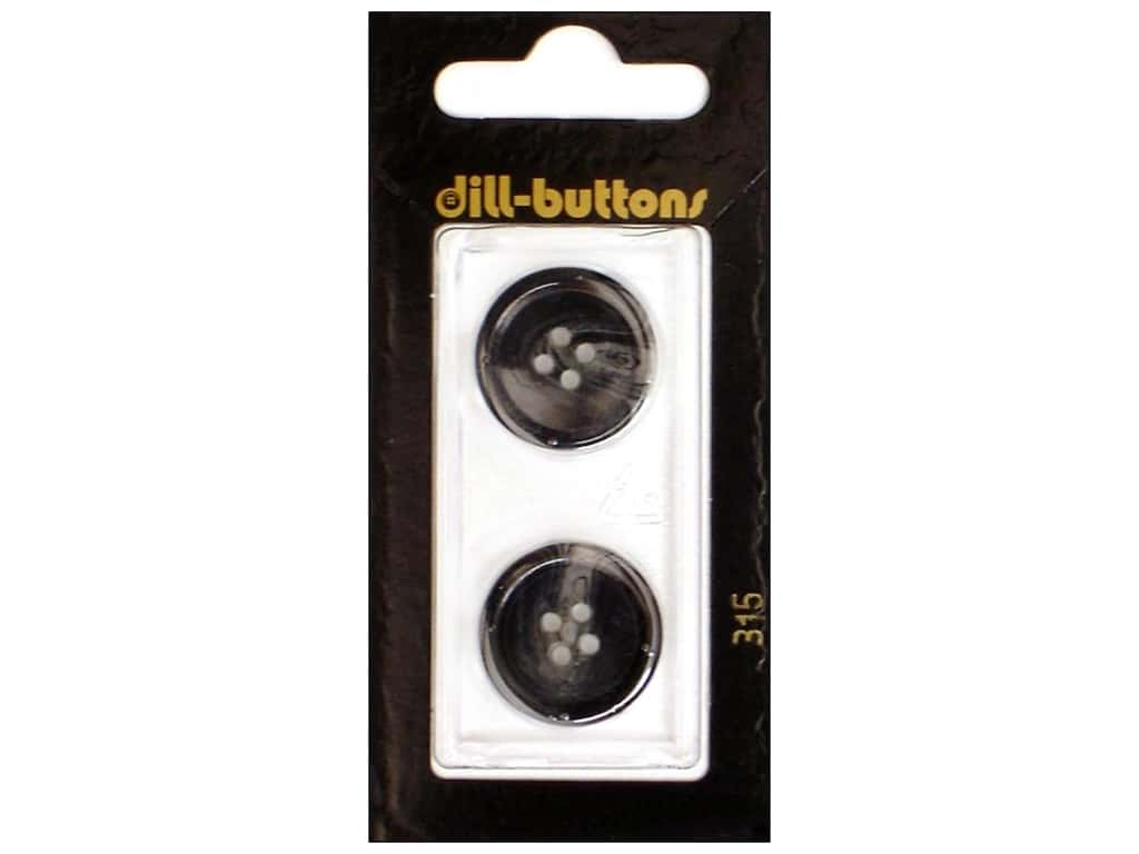 Dill 4 Hole Buttons 13/16 in. Black #315 2 pc.