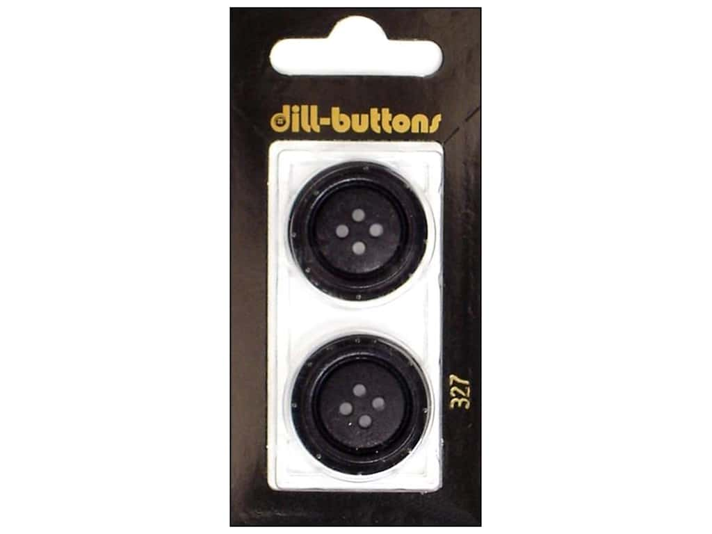 Dill 4 Hole Buttons 1 in. Black #327 2 pc.