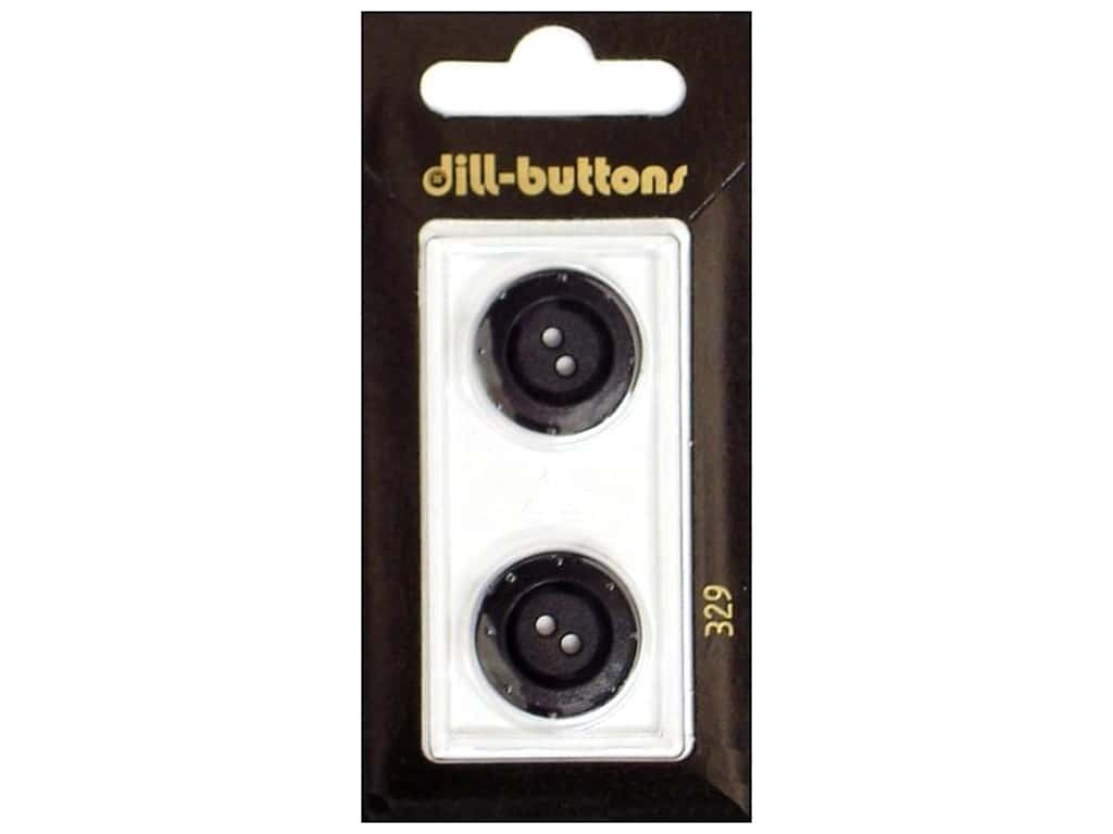 Dill 2 Hole Buttons 3/4 in. Black #329 2 pc.