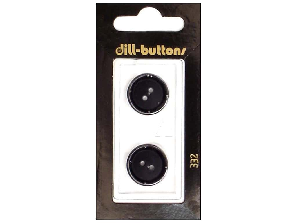 Dill 2 Hole Buttons 11/16 in. Black #332 2 pc.