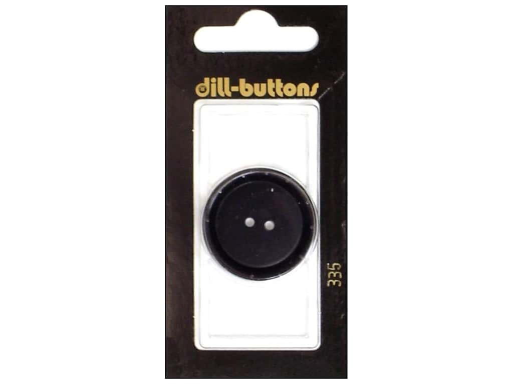 Dill 2 Hole Buttons 1 1/8 in. Black #335 1 pc.