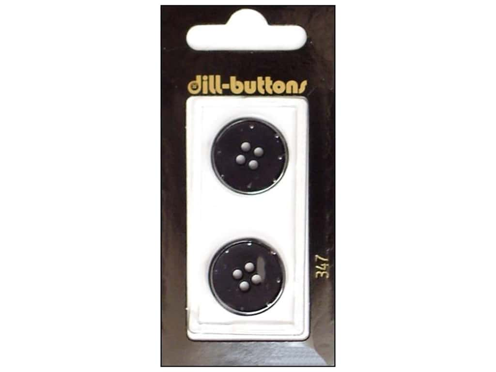Dill 4 Hole Buttons 13/16 in. Black #347 2 pc.