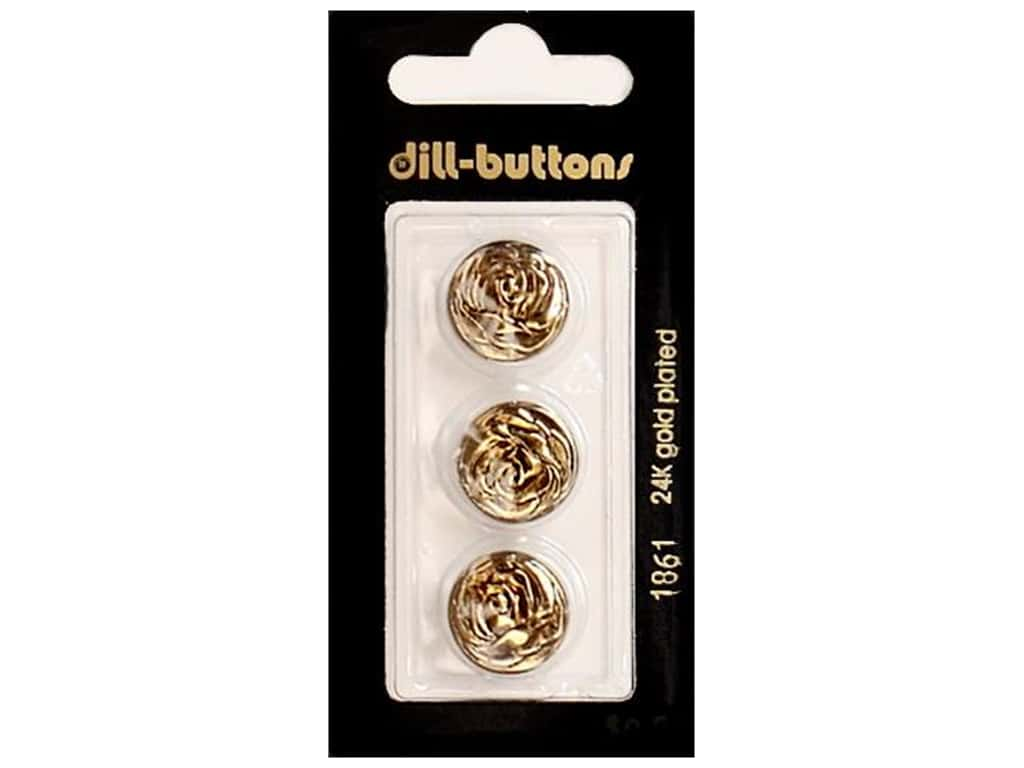 Dill Shank Buttons 5/8 in. Antique Gold Metal #1861 3 pc.