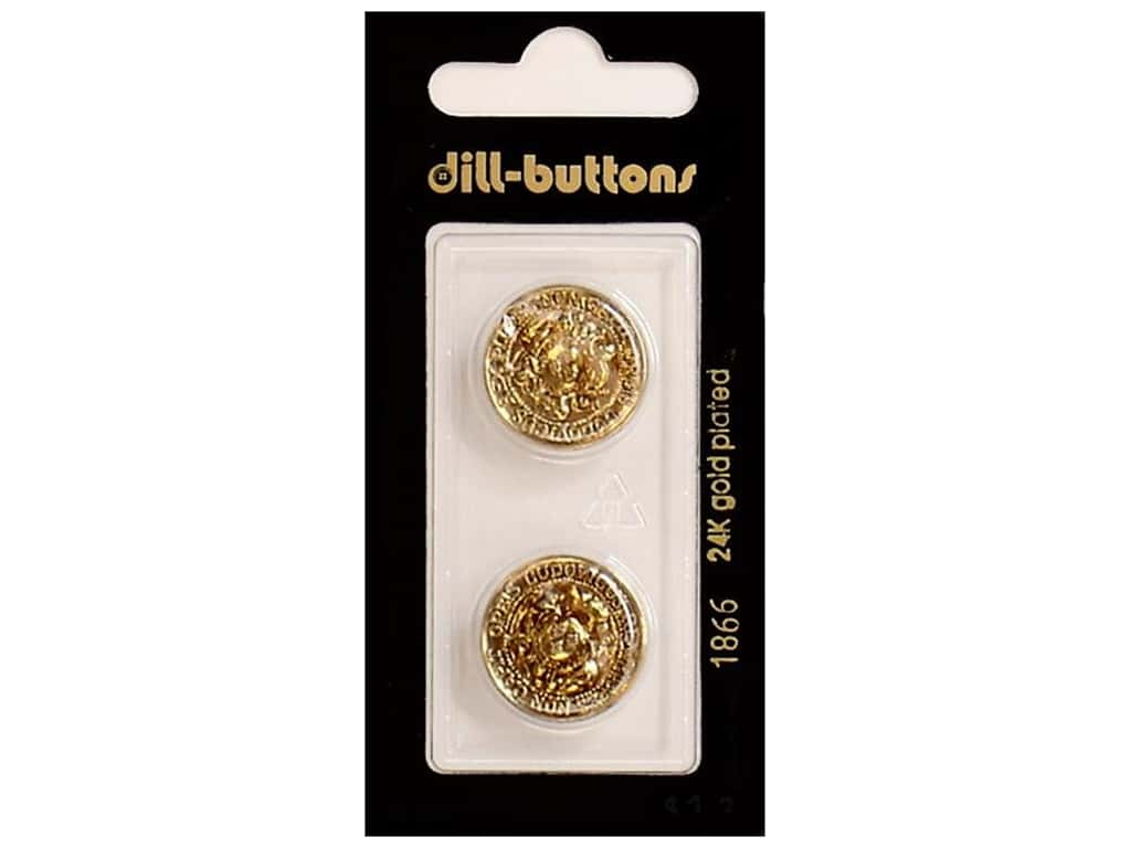 Dill Shank Buttons 11/16 in. Antique Gold #1866 2 pc.