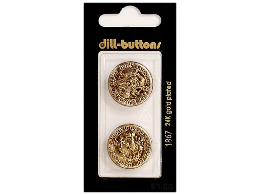 Dill Shank Buttons 7/8 in. Antique Gold #1867 2 pc.