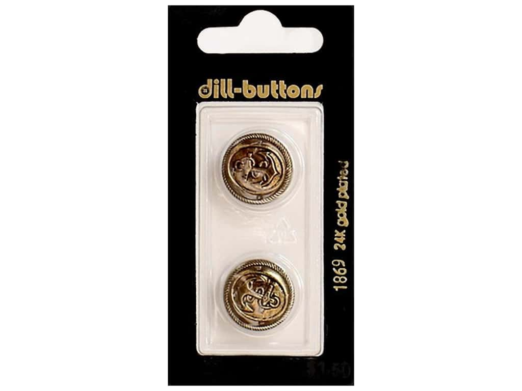 Dill Shank Buttons 11/16 in. Antique Gold #1869 2 pc.