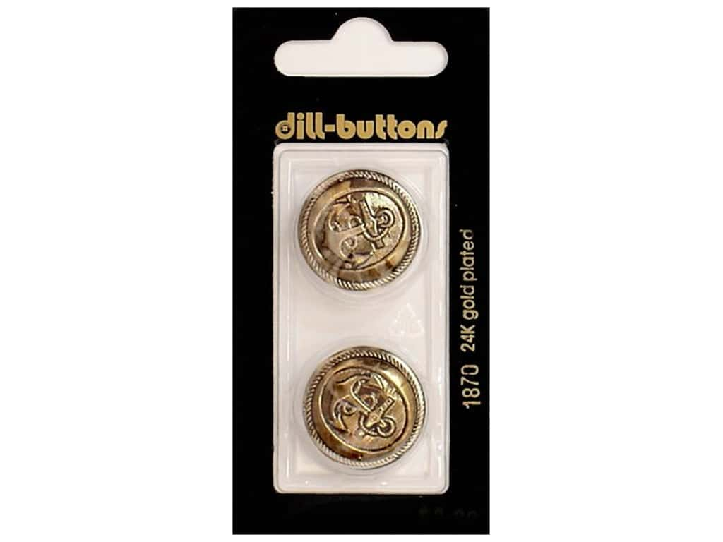 Dill Shank Buttons 7/8 in. Antique Gold #1870 2 pc.