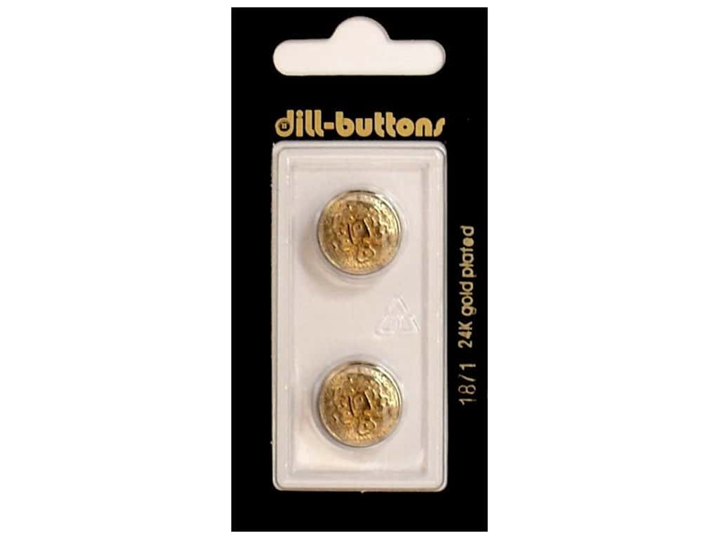 Dill Shank Buttons 5/8 in. Antique Gold Metal #1871 2 pc.