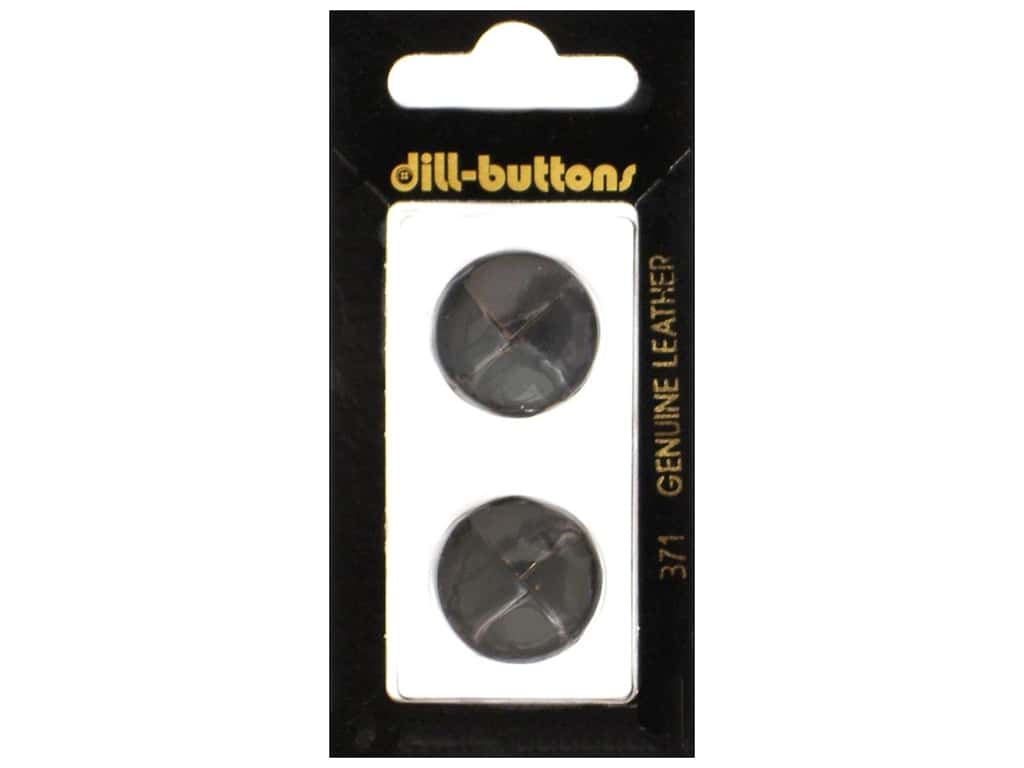 Dill Shank Buttons 13/16 in. Black Leather #371 2 pc.