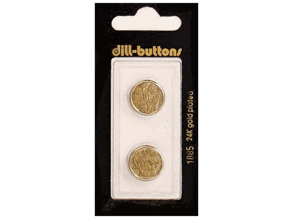 Dill Shank Buttons 5/8 in. Antique Gold Metal #1885 2 pc.