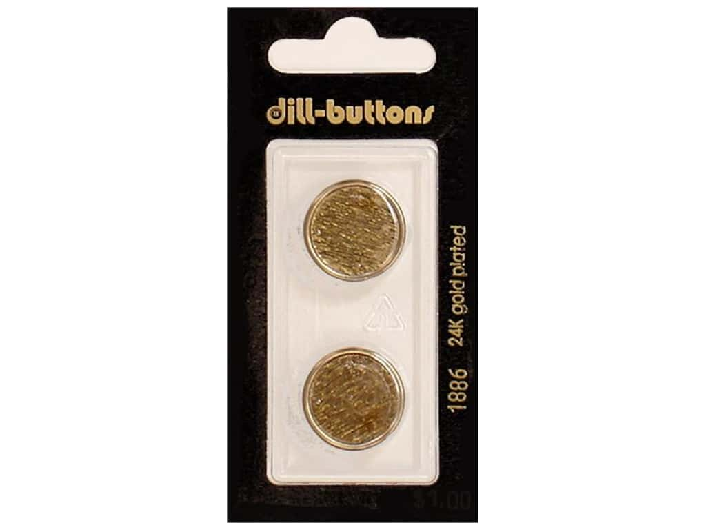 Dill Shank Buttons 11/16 in. Antique Gold Metal #1886 2 pc.