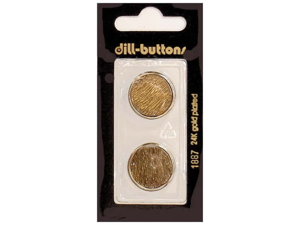 Dill Shank Buttons 13/16 in.  Antique Gold Metal #1887 2 pc.