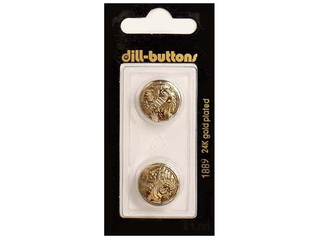 Dill Shank Buttons 11/16 in. Antique Gold #1889 2 pc.