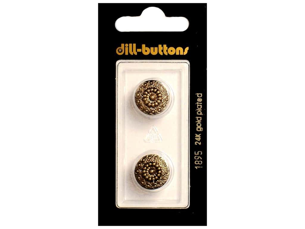 Dill Shank Buttons 9/16 in. Antique Gold #1895 2 pc.