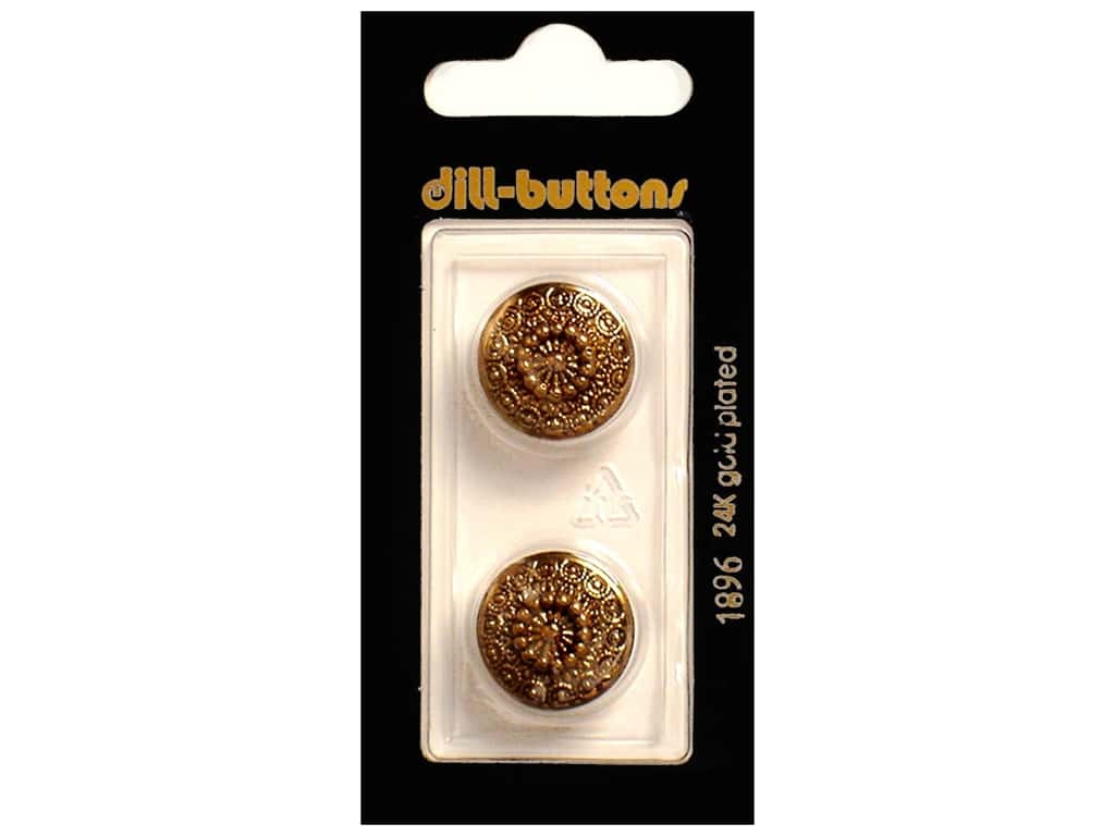 Dill Shank Buttons 11/16 in. Antique Gold #1896 2 pc.