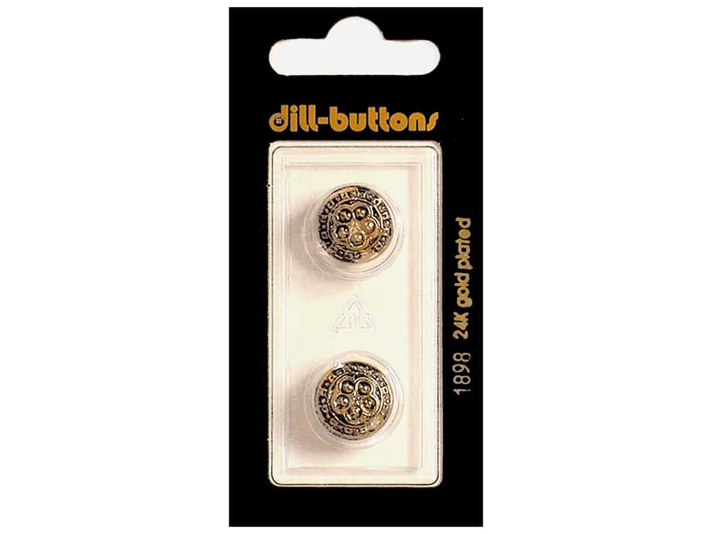 Dill Shank Buttons 9/16 in. Antique Gold #1898 2 c.