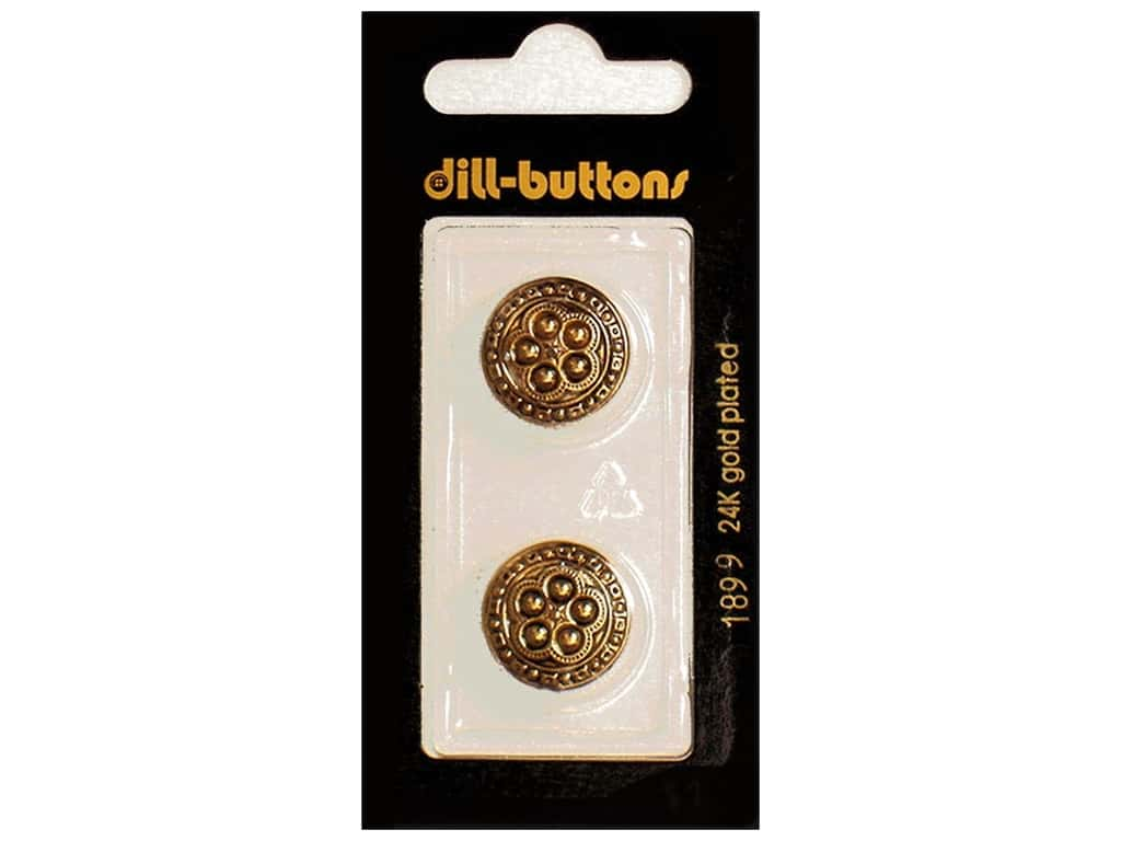 Dill Shank Buttons 11/16 in. Antique Gold #1899 2 pc.