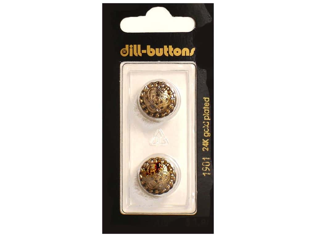 Dill Shank Buttons 5/8 in. Antique Gold Metal #1901 2 pc.