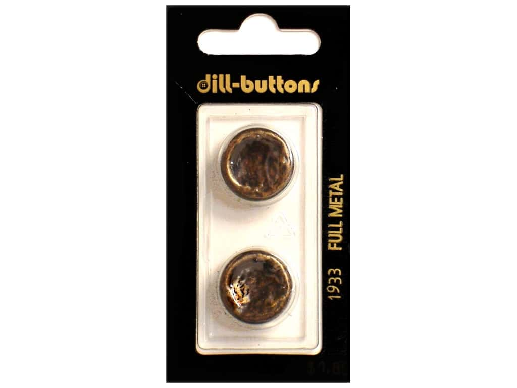 Dill Shank Buttons 11/16 in. Antique Brass Metal #1933 2 pc.