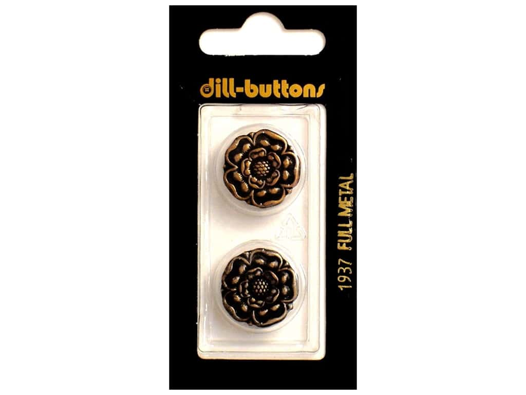 Dill Shank Buttons 3/4 in. Antique Brass Metal #1937 2 pc.