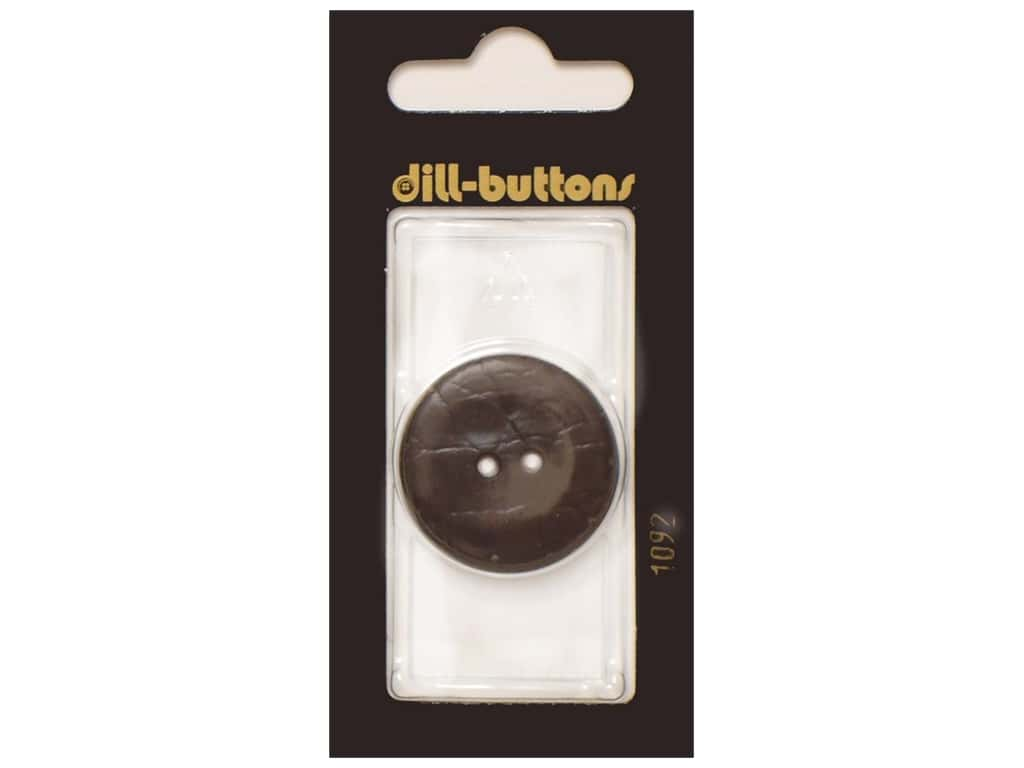 Dill 2 Hole Buttons 1 1/8 in. Brown #1092 1 pc.
