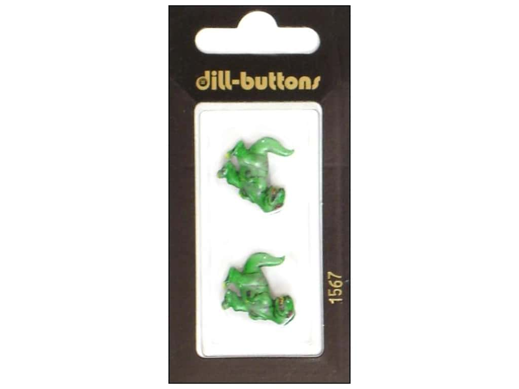 Dill Shank Buttons 13/16 in. T-Rex Green #1567 2 pc.