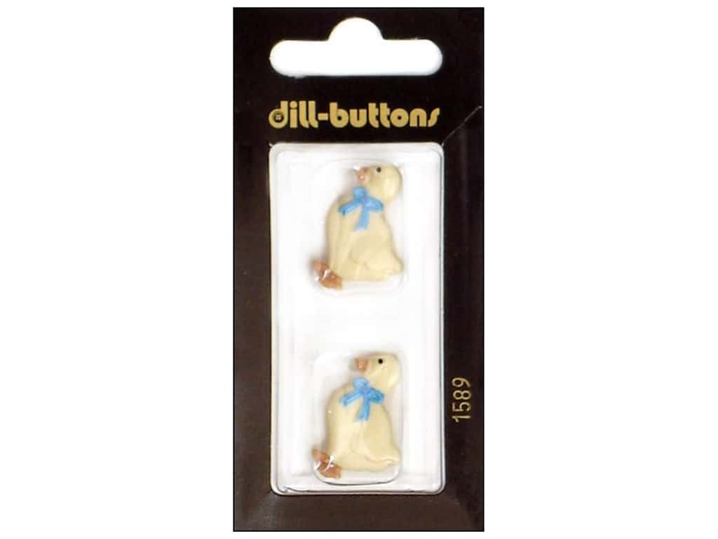 Dill Shank Buttons 1 in. White Goose #1589 2 pc.
