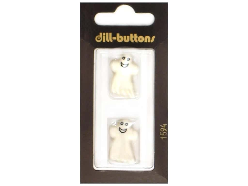 Dill Shank Buttons 7/8 in. White Ghost #1594 2 pc.