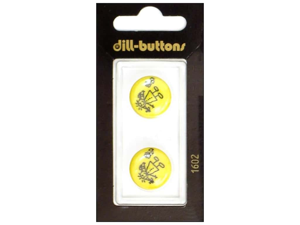 Dill Shank Buttons 11/16 in. Little Girl Yellow #1602 2 pc.