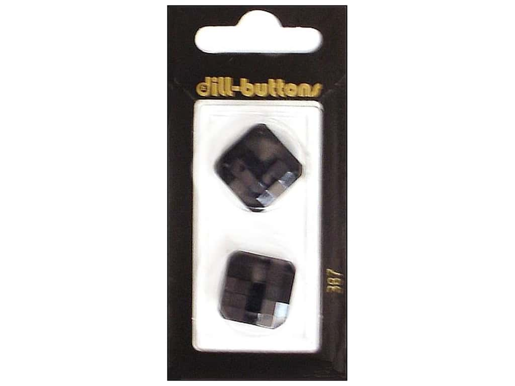 Dill Shank Buttons 13/16 in. Black #387 2 pc.