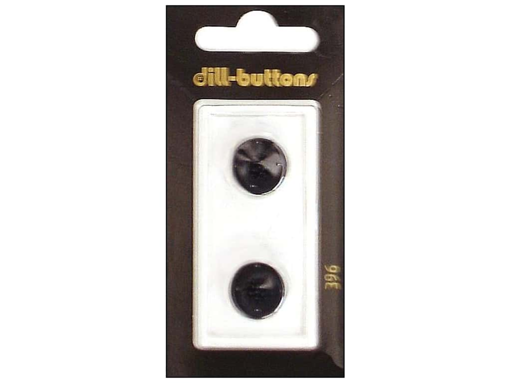 Dill Shank Buttons 9/16 in. Black #396 2 pc.