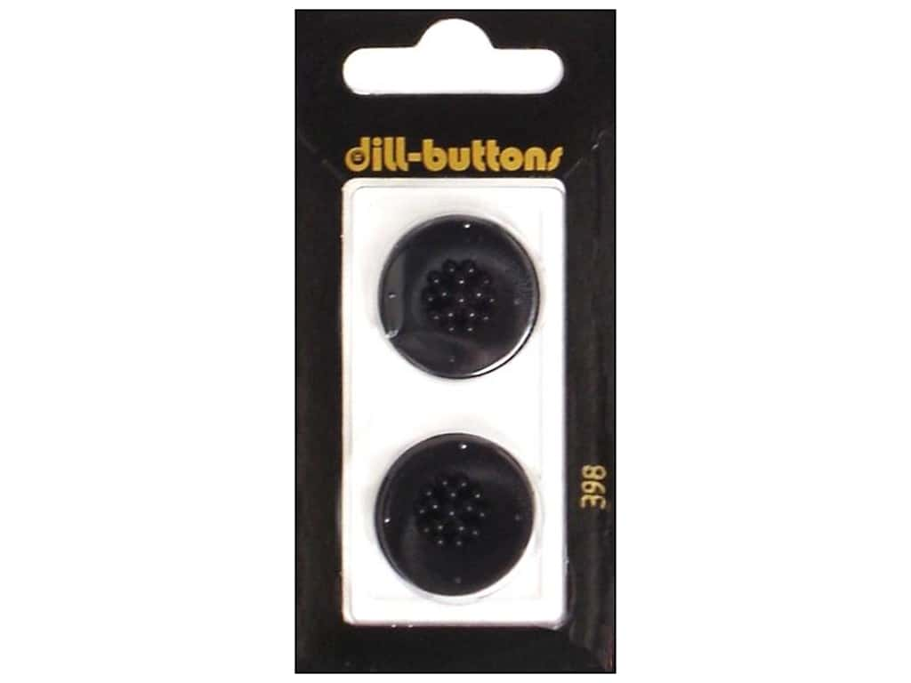 Dill Shank Buttons 7/8 in. Black #398 2 pc.