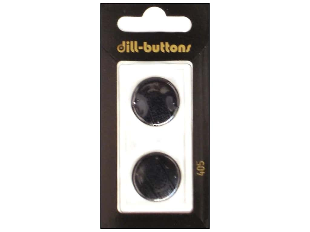 Dill Shank Buttons 13/16 in. Black #405 2 pc.
