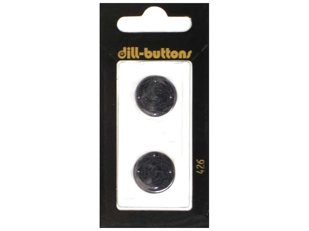 Dill Shank Buttons 11/16 in. Black #426 2 pc.